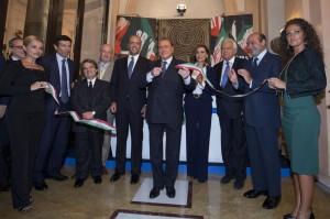 Berlusconi all'inaugurazione della seder omana di Forza Italia (Lapresse)