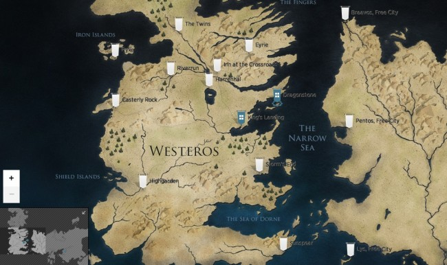 game of thrones mappa