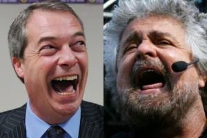 Guarda la versione ingrandita di Nigel Farage, Beppe Grillo
