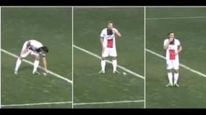 Zlatan Ibrahimovic come Dani Alves: gli tirano noccioline e le mangia (VIDEO)