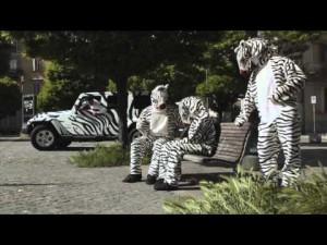 Bonucci, Pogba e Llorente vestiti da zebre per festeggiare lo scudetto alla Juve