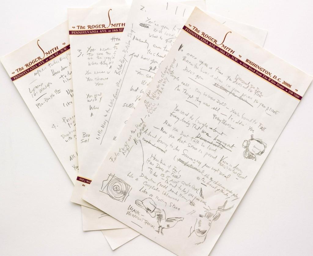Like a rolling stone, il manoscritto del capolavoro di Bob Dylan all'asta