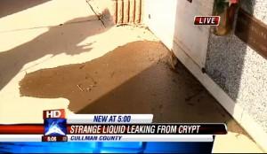 Alabama, strano liquido fuoriesce dal cimitero: melma dalla cripta abbandonata