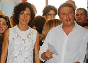 Matteo Renzi al seggio (foto Ansa)