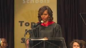 Michelle Obama al liceo di Topeka
