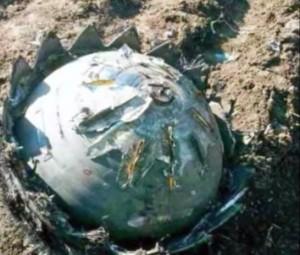 Uno dei frammenti ritrovati in Cina (foto YouTube)