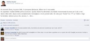 Andrea Scanzi, il post su Facebook