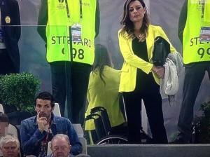 Gigi Buffon e Alena Seredova allo Juventus Stadium