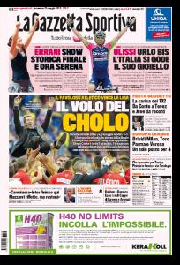 Tennis, Sara Errani italiana in finale: a Roma non succedeva da 64 anni prima pagina Gazzetta dello Sport