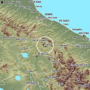 Terremoto Umbria, scossa magnitudo 3.3 tra Gubbio, Scheggia e Pascelupo