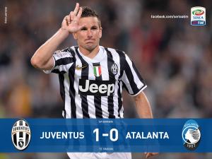 Juventus-Atalanta 1-0, gol decisivo di Padoin (LaPresse)