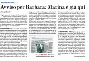 Avviso per Barbara Berlusconi: Marina è già qui. Meletti, Fatto Quotidiano