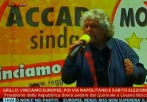 """Beppe Grillo contro Napolitano: """"Dopo le elezioni con Berlusconi a Cesano Boscone"""" (video)"""