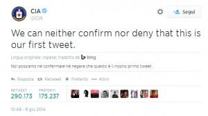 Dopo Facebook, la CIA sbarca anche su Twitter
