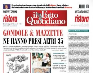 """Marco Travaglio sul Fatto Quotidiano: """"#mazzettastaiSerenissima"""""""