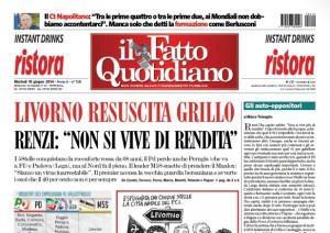 """Marco Travaglio sul Fatto Quotidiano: """"Gli auto-oppositori"""""""