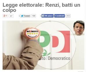 """Beppe Grillo-Gianroberto Casaleggio: """"Pronti a vedere Renzi su legge elettorale"""""""