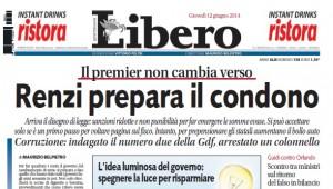 """""""Il condono fiscale del Pd"""". Libero: """"Pronta sanatoria per chi ha soldi in nero"""""""
