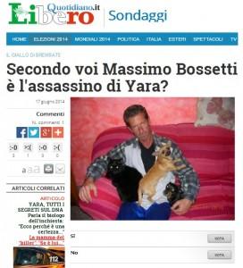 """""""Yara Gambirasio, Massimo Giuseppe Bossetti è l'assassino?"""", sondaggio Libero"""