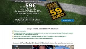 Mondiali 2014 su Sky: chi ha solo pacchetto Calcio o Sport o paga 59 euro o non li vede