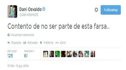 Osvaldo: «Contento di non far parte di questa farsa...»