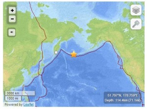 Terremoto Alaska e allerta tsuami: scossa di magnitudo 8 vicino Little Sitkin