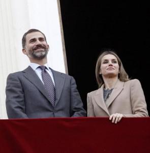 Il principe Felipe e la principessa Letizia (Foto Lapresse)