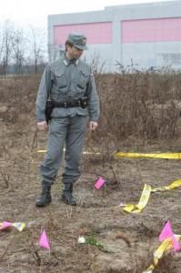 Il terreno dove è stato ritrovato il cadavere di Yara Gambirasio