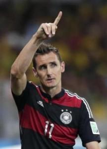 """Mondiali, Klose dopo record gol: """"Non riesco a rendermi conto"""""""