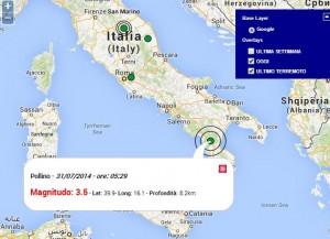 Terremoto tra Cosenza e Potenza, scossa magnitudo 3.5