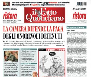 """Marco Travaglio sul Fatto Quotidiano: """"La versione di Vasco"""""""