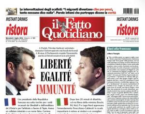 """Marco Travaglio sul Fatto Quotidiano: """"Baci alla francese"""""""