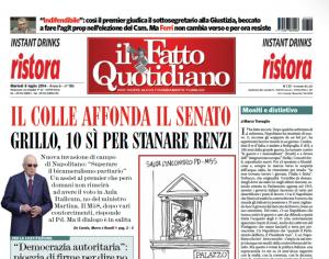 """Marco Travaglio sul Fatto Quotidiano: """"Moniti e distintivo"""""""