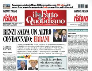 """Marco Travaglio sul Fatto Quotidiano: """"#matteononstarsereno"""""""