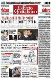 """Marco Travaglio sul Fatto Quotidiano: """"Il raglio del Ventaglio"""""""