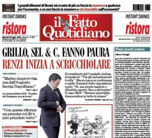 """Marco Travaglio sul Fatto Quotidiano: """"Vieni avanti aretina"""""""