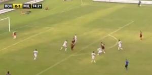 Monza-Milan 0-2, Hachim Mastour incanta (VIDEO)