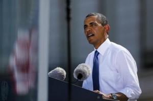 Il presidente americano, Barack Obama (Foto Lapresse)