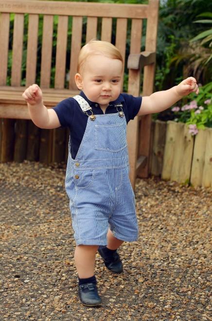 Principe George, a ruba salopette della foto diffusa da William e Kate Middleton