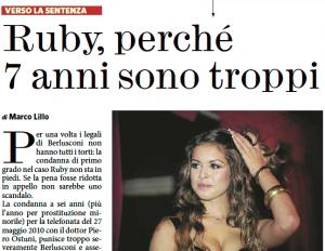 """""""Ruby, perché 7 anni sono troppi"""", Marco Lillo sul Fatto Quotidiano"""