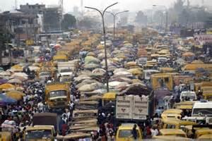 Ingorgo di traffico nel centro di New Delhi