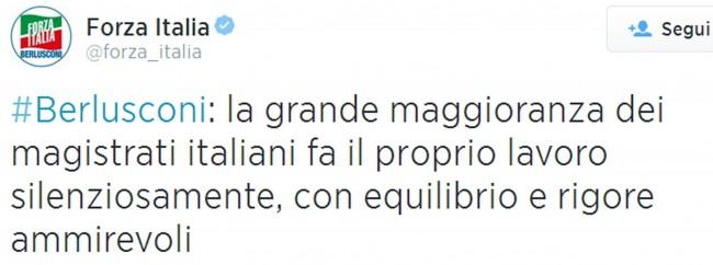 """Berlusconi: """"Maggioranza magistrati fa proprio lavoro silenziosamente"""""""