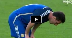 Messi vomita ancora durante la finale Argentina-Germania (VIDEO)
