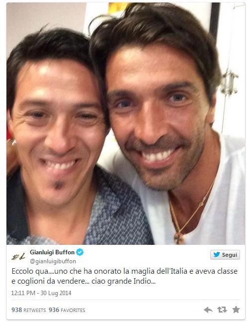 Buffon e Camoranesi su Twitter
