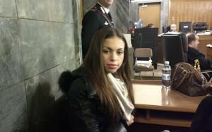 Ruby in aula a Milano (foto Lapresse)