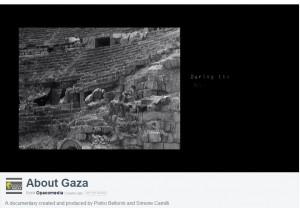 """Simone Camilli: """"About Gaza"""", il suo documentario VIDEO"""