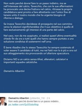 Figc: Giulio Napolitano, Gianluca Vialli, Frattini..se Tavecchio-Albertini no