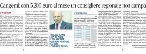 """Giuseppe Cangemi (Ncd): """"6.800 mese sono pochi. E se tolgono i vitalizi ci ridiano i contributi versati"""""""
