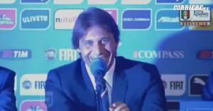 """Antonio Conte e l'autoparodia: """"Queste domande sono agghiaccianti"""" VIDEO"""