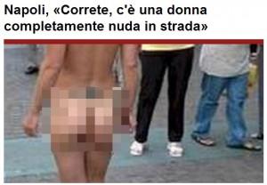 Donna nuda in strada: da Napoli arriva a piedi a Casalnuovo